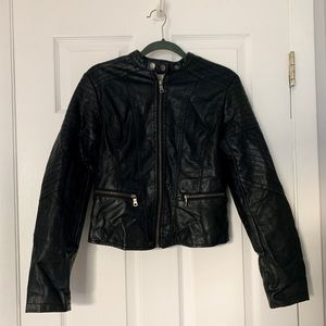 Xhilaration black faux leather jacket